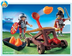 playmobil firing catapult three flames shoot