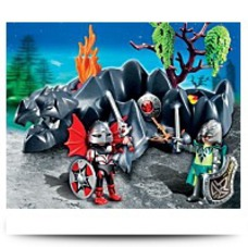 4147 Dragon Rock Compact Set With Knights