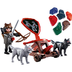 playmobil knights playset wolf knight catapult