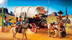 covered wagon raiders protect cargo hidden