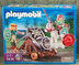 playmobil green knight movable cannon moveable